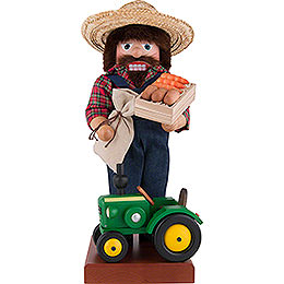 Nutcracker Farmer with Tractor  -  45,5cm / 18 inch
