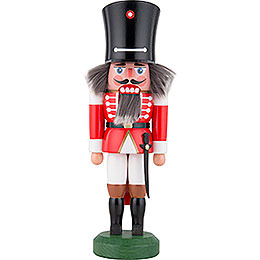 Nutcracker  -  Guard with Saber Red  -  26cm / 10 inch