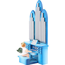 Organ with Angel with Crown  -  18,5cm / 7.3 inch