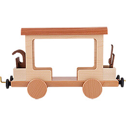 Railroad Car for Snowman Locomotive  -  15cm / 5.9 inch