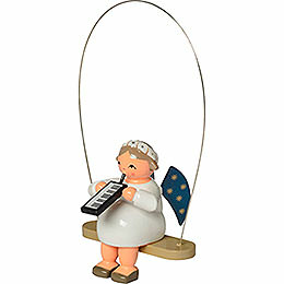 Rocking Angel with Melodica  -  8cm / 3.1 inch