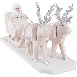Smoker  -  Father Frost with Reindeer Sleigh  -  26cm / 10.2 inch