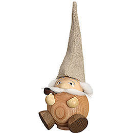 Smoker  -  Forest Dwarf natural  -  Ball Figure  -  19cm / 3.5 inch