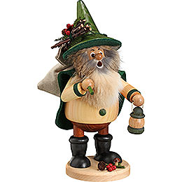 Smoker  -  Forest Gnome Hiker, Green  -  25cm / 10 inch