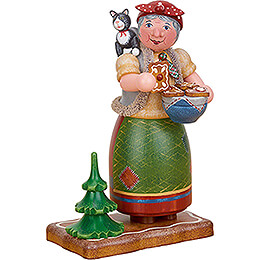 Smoker  -  Gingerbread Witch  -  20cm / 7.9 inch