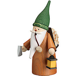 Smoker  -  Gnome Wood Gatherer  -  16cm / 6.3 inch