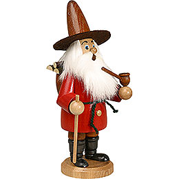 Smoker  -  Gnome Wood Gatherer Red  -  22cm / 9 inch
