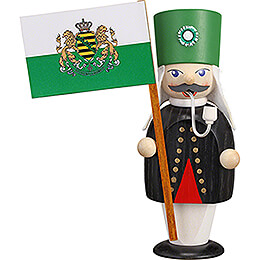 Smoker  -  Miner with Flag  -  16cm / 6.3 inch