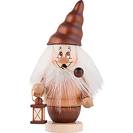 Smoker  -  Mini - Gnome with Lantern  -  16,5cm / 6,5 inch