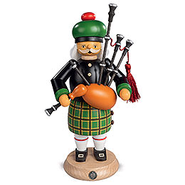 Smoker  -  Scotsman in Highland Costume with Bagpipe  -  27cm / 11 inch