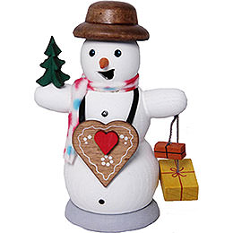 Smoker  -  Snowman with Ginger Bread Heart  -  13cm / 5.1 inch