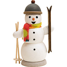 Smoker  -  Snowman with Ski  -  13cm / 5.1 inch