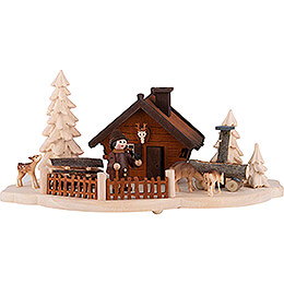 Smoking Hut  -  Forester's house  -  11cm / 4.3 inch