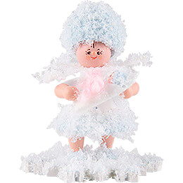 Snowflake with Baby Girl  -  5cm / 2 inch