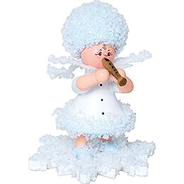 Snowflake with Flute  -  5cm / 2 inch
