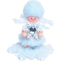Snowflake with Snow Crystal  -  5cm / 2 inch