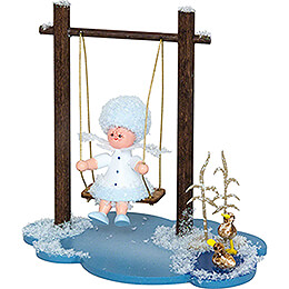 Snowflake with Swing  -  8,5cm / 3.3 inch