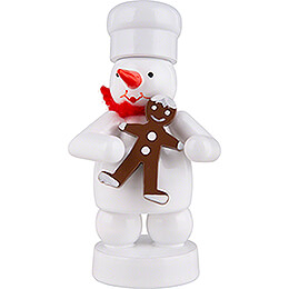Snowman Baker with Gingerbread Man  -  8cm / 3.1 inch