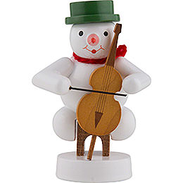 Snowman Musician with Cello  -  8cm / 3 inch