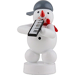 Snowman Musician with Melodica  -  8cm / 3 inch
