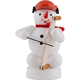 Snowman Musician with Musical Saw  -  8cm / 3 inch