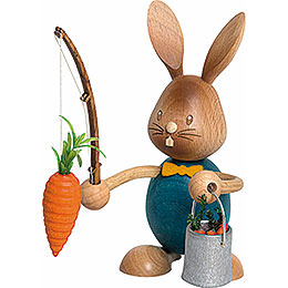 Snubby Bunny with Carrot Fisher  -  12cm / 4.7 inch