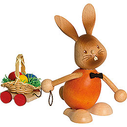 Snubby Bunny with Egg Cart  -  12cm / 4.7 inch