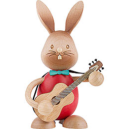 Snubby Bunny with Guitar  -  12cm / 4.7 inch