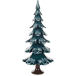 Solid Wood Tree  -  Green - White  -  24,5cm / 9.6 inch