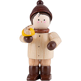 Thiel Figurine  -  Boy with Bratwurst  -  natural  -  4,6cm / 1.8 inch