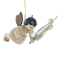 Tree Ornament  -  Angel with Chime  -  Natural Colors  -  Floating  -  5,5cm / 2.2 inch