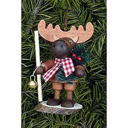 Tree Ornament  -  Moose Natural  -  9,5cm / 4 inch