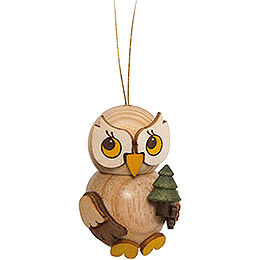 Tree Ornament  -  Owl Child with Tree  -  4cm / 1.6 inch