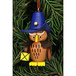 Tree Ornament  -  Owl Nightwatchman  -  3,2x6,2cm / 1.3x2.4 inch