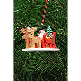 Tree Ornament  -  Snowman with Reindeer Sleigh  -  9,7cm / 3.8 inch