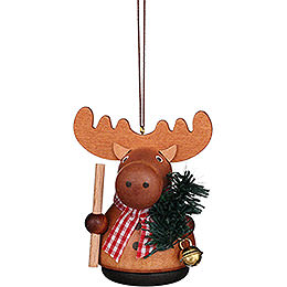 Tree Ornament  -  Teeter Man Moose Natural  -  7,5cm / 3 inch