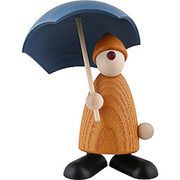 Well - Wisher Charlie with Umbrella, Yellow  -  9cm / 3.5 inch