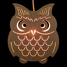 Window Picture  -  Owl  -  28cm / 11 inch