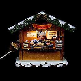 Winter Children Market Booth Bratwurst House  -  10cm / 4 inch