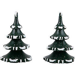 Winter Children Trees  -  Medium  -  Set of 2  -  8cm / 3.1 inch